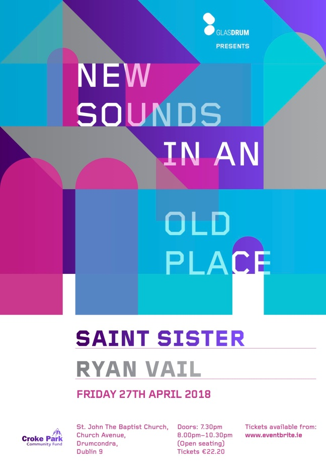 New Sounds 4 A3 poster outlined type eventbrite